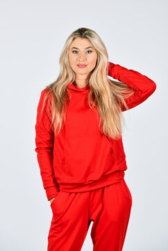 Sport style. Fitness woman wear sportswear. Girl in training clothes. Fashionable sportswear. Girl in sweatpants and hoodie. Comfy style for daily life. Feel so sporty. Gym fashion. Trendy sportswear