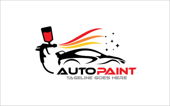 Creative vector graphic of Auto body color Painting logo design