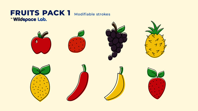 Fruit Pack 1 by Wildspace Lab.
