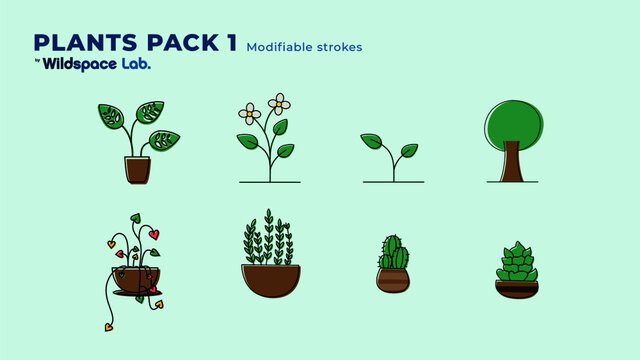 Plant Pack 1 by Wildspace Lab.