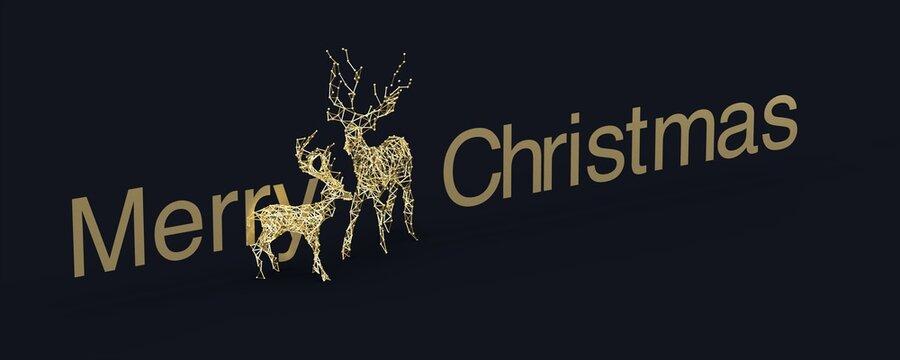 weihnachten rentier banner Weihnachtskarten modern wire mesh