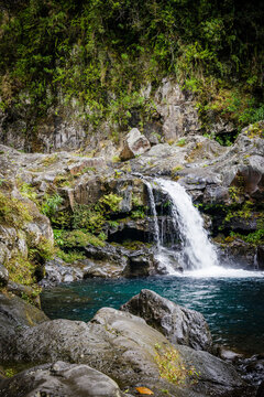 Waterfall on the Langevin river on Reunion Island