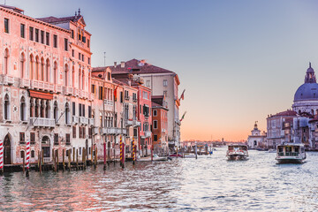 Venice, Italy: sunrise at the Grand Canal