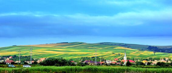 Shot of a village in Transylvania - Romania
