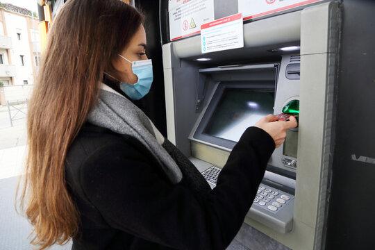 mascherina bancomat
