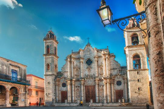 Cathedral of old havana un cuba