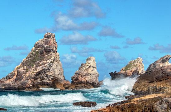 Guadeloupe, la Pointe des châteaux