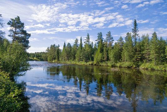 The Ljusnan river