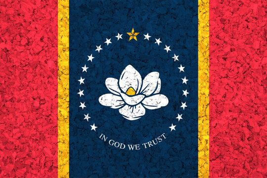 Mississippi State Flag on Cork