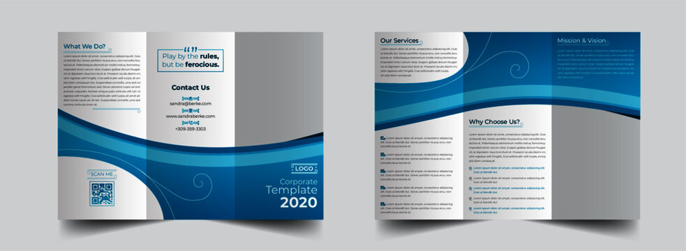 The gradient corporate modern vector editable layout of square format covers design templates for trifold brochure, flyer, magazine. Creative trendy style blue color trendy design backgrounds.