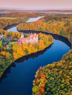 Czocha Castle in fall colors