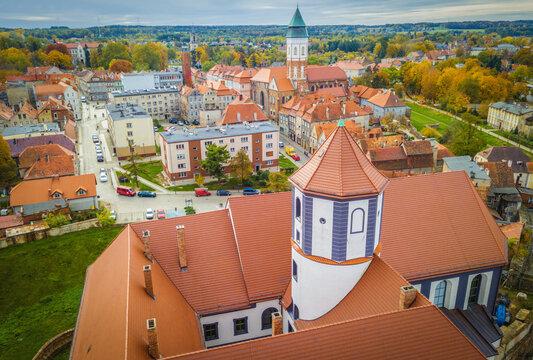 Kozuchow Castle - aerial view
