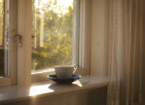 Morning light on a cup of coffee.