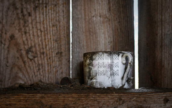 Old cup that has been left on it's own.