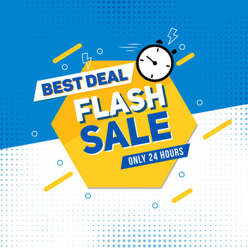 Flash Sale Banner Template best for social meida post or store promotion.