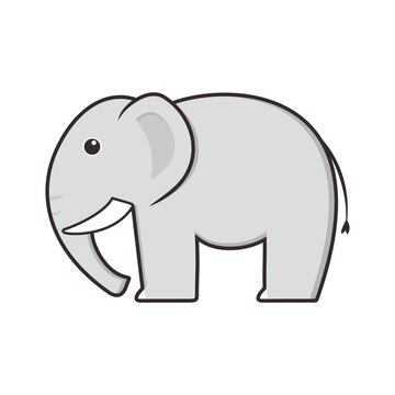 Cute Elephant Animal Funny Cartoon Character