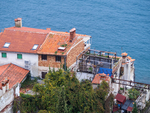View from the belltower at Rovinj Croatia