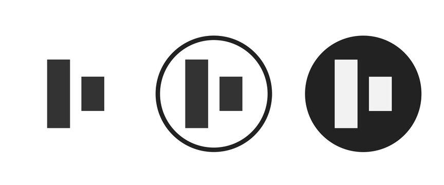 align middle icon symbol vector illustration set