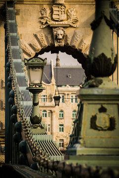 Budapest Chain Bridge with the Gresham Palace