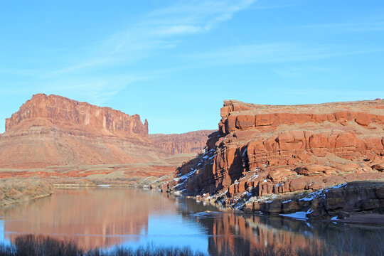 Colorado River Valley, Utah in winter