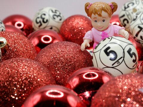 bolas de navidad para la loteria