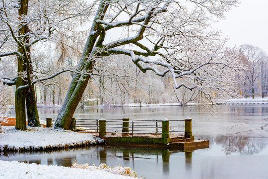 Winter in Catherine park, Tsarskoe Selo (Pushkin), Saint Petersburg, Russia