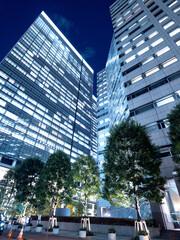 Fototapete - 東京都 大手町のオフィスビル街