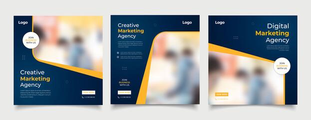 Fototapeta Digital business marketing banner for social media post template