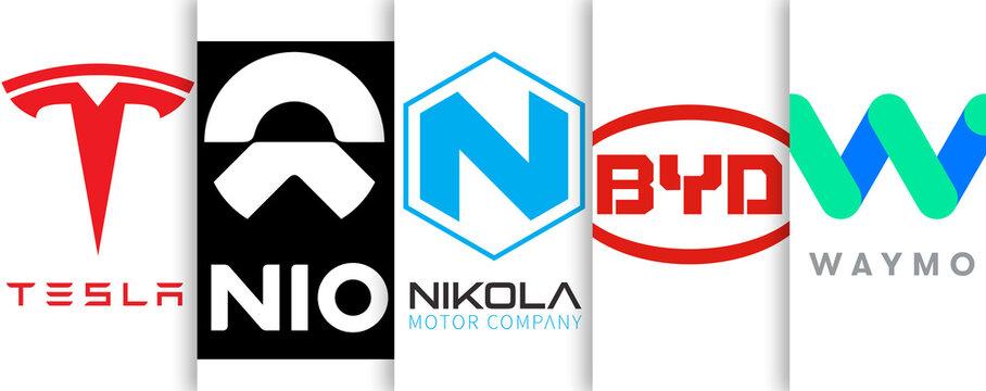 electric driving car manufacturer - Tesla Nikola BYD Nio Waymo