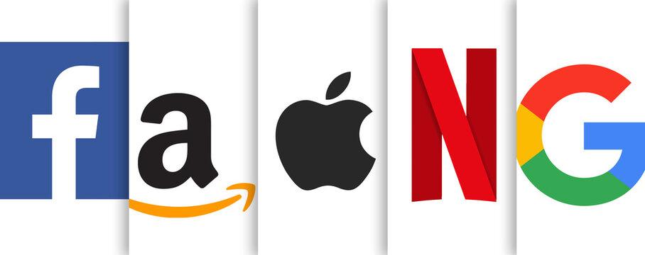 Tech Giants - Facebook Amazon Apple Netflix Google