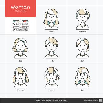simple illustration set of people_woman