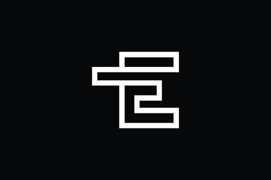 TE logo letter design on luxury background. ET logo monogram initials letter concept. ET icon logo design. TE elegant and Professional letter icon design on black background. E T TE ET