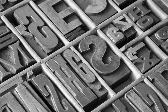 real calligraphy letters texture black&white;
