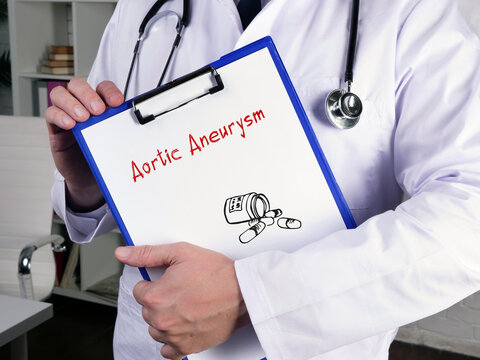 Aortic Aneurysm phrase on the sheet.