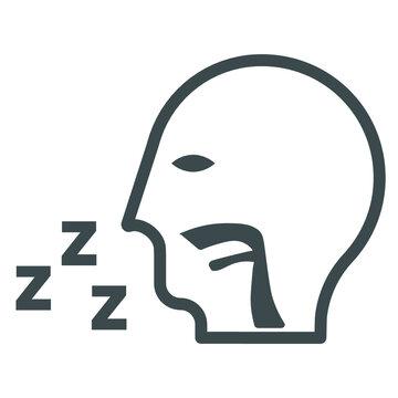 Sleep apnea icon, Snoring symbol for your web site , logo, app, UI design