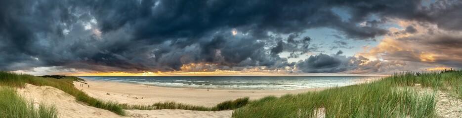 Beautiful see landscape panorama, dune close to Baltic See, Slowinski National Park, Poland