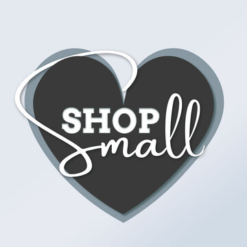 SHOP SMALL BUSINESS SATURDAY SALE HEART BLACK AND WHITE SOCIAL MEDIA POST