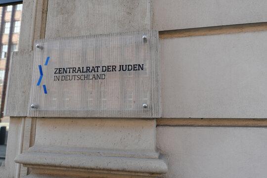 Berlin, Germany - September 23, 2019: Headquarters of Central Council of Jews - Zentralrat der Juden in Deutschland - Leo Baeck House in Berlin, Germany