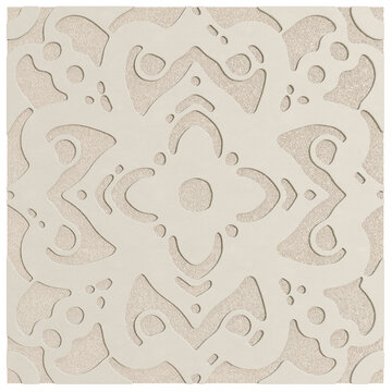 Beige Leather Pattern Isolated On White Background