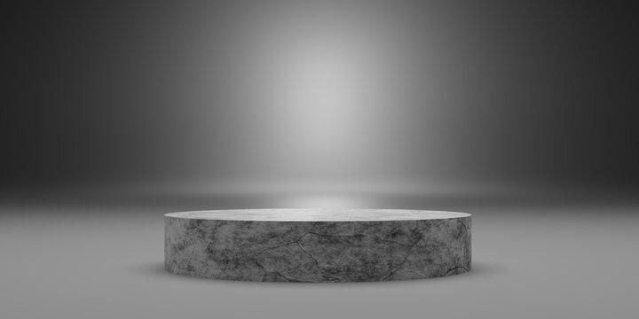 Stone Podium background 3d Illustration