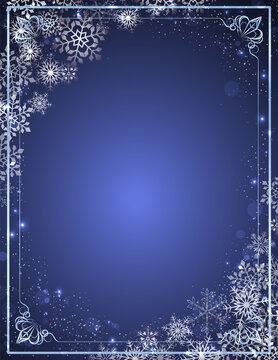 クリスマス 背景 雪  雪片