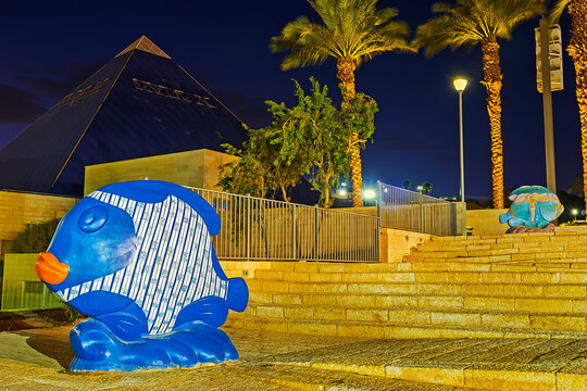 The Eilate's fish sculptures, on Feb 23, 2016 in Eilat, Israel