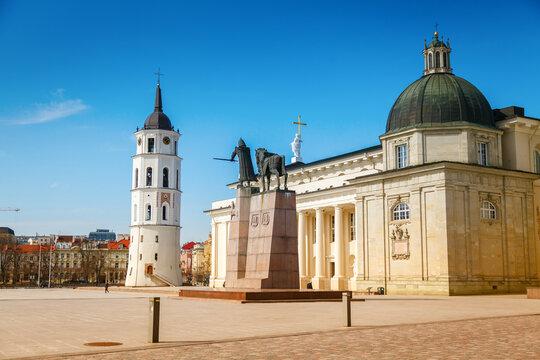 The Cathedral Square in Vilnius