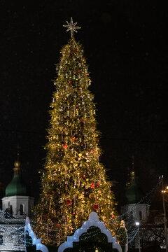 31.12.2019 - Kyiv, Ukraine. Christmas and New year Holiday on Sophia Square