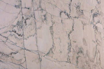 Natural calcite stone in light beige, grey tones, texture for perfect interior, background or other design project.