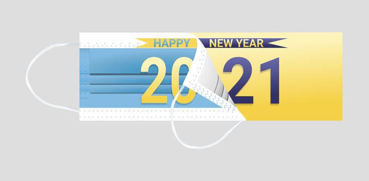 remove covid mask happy new year
