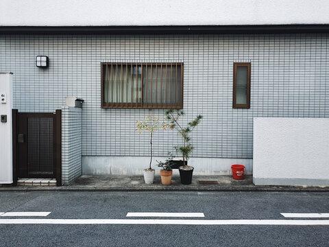 Straßenaufnahme in Kyoto