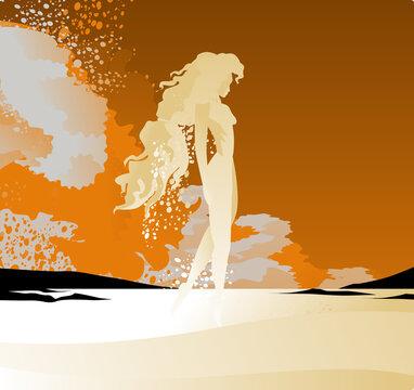 water elemental magical naiad female creature