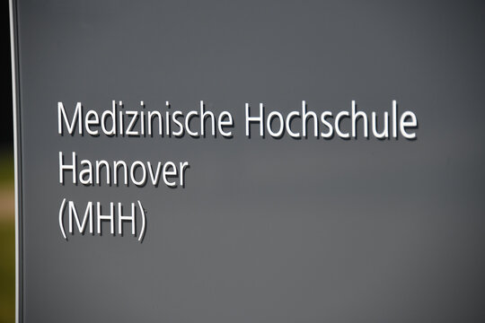 Hanover, Lower Saxony, Germany - April 5, 2020: The Hannover Medical School  - Medizinische Hochschule Hannover - MHH is a university medical centre in the city of Hanover, Germany