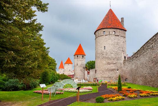 Walls and towers of old Tallinn, Estonia